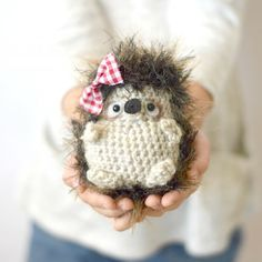 This little woodland hedgehog is the perfect late summer crochet project. She is easy, quick to make, and will enjoyed through the fall!