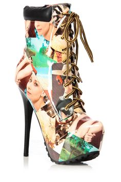 Marylin Monroe Printed Patent Lace Up Platform Booties @ Cicihot. Booties spell style, so if you want to show what you're made of, pick up a pair. Have fun experimenting with all we have to offer!