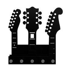 Porta Chaves e Correspondência Guitarras Stencils, Geek Decor, Diy Presents, Scroll Saw, Pop Rocks, E Design, Paper Cutting, Geek Stuff, Paper Crafts