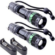 1000 Lumen Zoomable CREE XM-L T6 LED Flashlight Torch. 1800 Lumen Zoomable CREE LED Flashlight Torch. 2.Model of LED: CREE XM-L T6. Bike Head Light + Back Rear Flashlight.