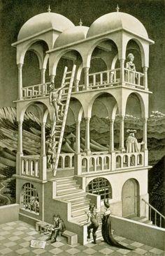 「ベルベデーレ(物見の塔)」1958年 リトグラフ