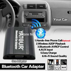 Yatour Bluetooth Car Adapter Digital Music CD Changer (2.4 Switch Cable Connector) For Honda Accord Civic FR-V Legend Jazz