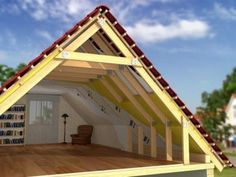 Pergola To House Attachment Key: 5906908940 A Frame House Plans, Tiny House Plans, House Floor Plans, Tiny House Cabin, Tiny House Design, Cabin Homes, Roof Truss Design, Framing Construction, Modern Bungalow House