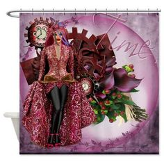 Druicia Lady of Time Shower Curtain
