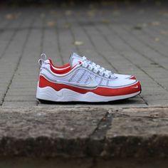 detailed look 98d89 603c7 Nike Air Zoom Spiridon 16 White-Metallic Silver-Red