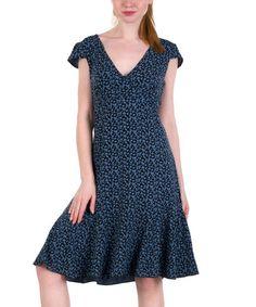 Look what I found on #zulily! Black Almond Chort Dress #zulilyfinds