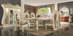 Luxury Dining Room, Dining Room Sets, Dining Table, Dining Chairs, Furniture Near Me, Wooden Furniture, Table Furniture, Furniture Ideas, Bedroom Furniture