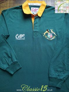 Relive South Africa's 1997 test series against the British & Irish Lions with this vintage Cotton Traders home long sleeve rugby shirt.