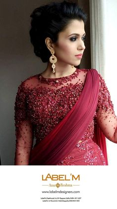 Lehenga Designs, Salwar Neck Designs, Half Saree Designs, Wedding Evening Gown, Indian Wedding Gowns, Kerala Engagement Dress, Netted Blouse Designs, Bridal Anarkali Suits, Frocks And Gowns