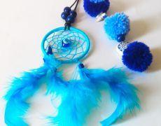 Breloc/Accesoriu EVIL EYE pentru geanta Dreamcatchers, Drop Earrings, Jewelry, Decor, Jewellery Making, Dekoration, Dream Catcher, Jewerly, Decoration
