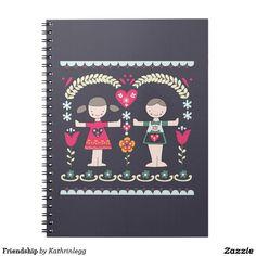 Friendship by Kathrin Legg #nationalbestfriendsday Spiral Notebook