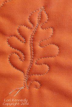 Oak Leaf and Acorn Free Motion Quilt Pattern
