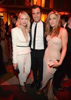 Naomi Watts + Justin Theroux + Jennifer Aniston