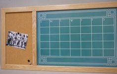 Framed Chalkboard Calendar Dry Erase Board Calendar & Cork Board Command Center by TailorMadeWhiteboard #Etsy #Amazon