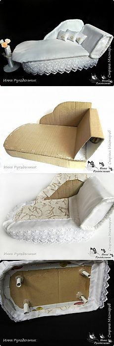 38 Ideas Doll House Diy Cardboard Dollhouse Furniture For 2019 Modern Dollhouse Furniture, Diy Barbie Furniture, Cardboard Furniture, Miniature Furniture, Furniture Ideas, Furniture Vintage, Bedroom Furniture, Cardboard Dollhouse, Diy Cardboard