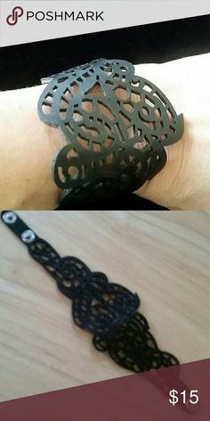 Leather and Lace Lasered leather bracelet Jewelry Bracelets