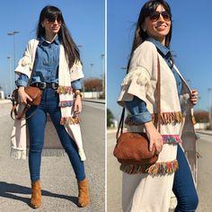 maxi poncho - Temporada: Otoño-Invierno - Tags: look, ootd, fashion, moda, boho, stardivariusblog - Descripción: look boho #FashionOlé