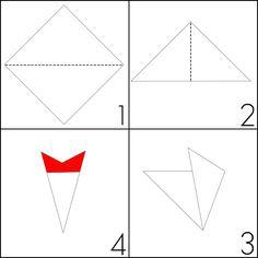 Turorial : How to make a cobweb / Tutoriel : Réaliser une toile d'araignée en papier (origami / kirigami) Voici comment faire: Commencez avec un morceau de papier origami carré de votre taille désirée. taille pour le tuto : 7,5 cm / 3 pouce. 1. Plier...