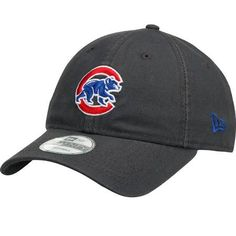 7b6320179 Chicago Cubs New Era Graphite Core Classic Adjustable Hat - Gray/Royal -