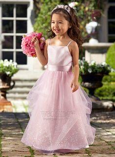 Spaghetti Straps Flower Girl Dresses partydresses2152C