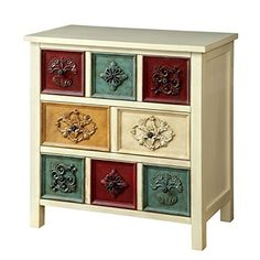 Decorated with intricate carvings the Kerry Accent Chest features an Antique White finish that accentuates its colorful faces. Use its three spacious drawers to store clothes, sheets and more as the overhanging top holds framed pictures and décor. Solid wooden construction ensures long-term ... more details available at https://furniture.bestselleroutlets.com/accent-furniture/storage-chests/product-review-for-furniture-of-america-kerry-accent-chest-in-antique-white/