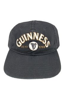 2fce076b61b32 Guinness Baseball Cap Black Stout Adjustable Paddy s Day