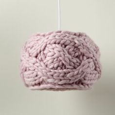 What a unique knitted pendant fixture from Land of Nod!