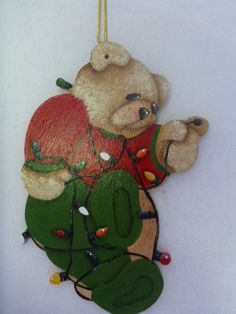 Christmas Ornament - Tole Painting, hand painted : T8 by CarolsCreations77 on Etsy