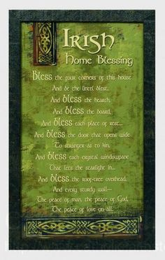 ♧Irish House Blessing From: Celtic Colours, please visit Irish Quotes, Irish Sayings, Irish Proverbs, Irish Eyes Are Smiling, Under Your Spell, Irish Pride, Irish Blessing, House Blessing, Irish Celtic