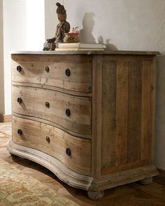 Hazel Chest - Reclaimed wood. Love the grain of the wood and unexpected  curvature