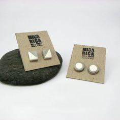 Cement Jewelry, Wooden Jewelry, Diy Jewelry, Jewelry Design, Jewellery, Cement Art, Concrete Cement, White Concrete, Concrete Crafts
