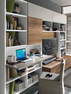 Scrivania con libreria | My home nel 2018 | Pinterest | Scrivania ...