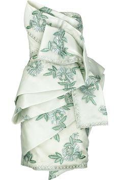 Embroidered silk-organza dress by Marchesa