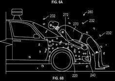 Google Patent Fussgänger sollen nach kollision am auto kleben