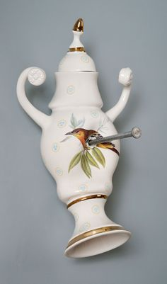 Laurent Craste I Porcelaine I Ceramic I Art Contemporary Sculpture, Contemporary Ceramics, Porcelain Vase, French Artists, Decorative Objects, Art Forms, Unique Art, Sculpture Art, Art Projects