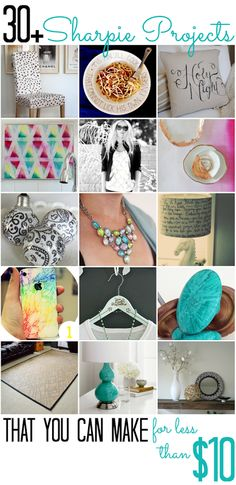 OIver 30 Sharpie Projects (that you can do for less than $10) - All Cheap Crafts