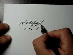 Caligrafia_alfabeto - Walmir Medeiros - calligraphy