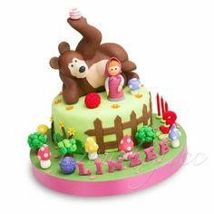 Marsha and the bear cake