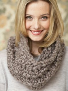 Twirling Cowl | Yarn | Free Knitting Patterns | Crochet Patterns | Yarnspirations
