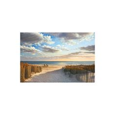 Sunset Beach Wall Art Print ($35) ❤ liked on Polyvore featuring home, home decor and wall art