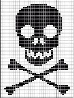 Skull And Cross Bones Knitting Chart From Breienmetplezier- fav things scarf