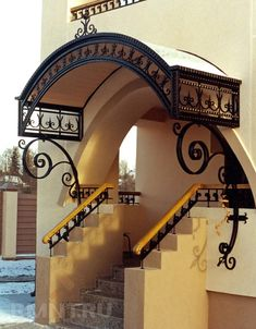 Exterior Entry Doors, Exterior Stairs, Lampe Crochet, Craftsman Front Doors, House Outside Design, House Staircase, Door Gate Design, Wrought Iron Decor, Marquise