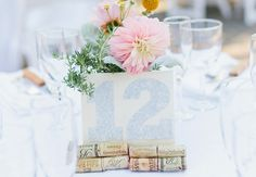 Wine Cork Table Number Sign