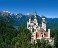 Neuschwanstein Castle-one of the main inspirations for Cinderella Castle designed by legendary Imagineer Herb Ryman.