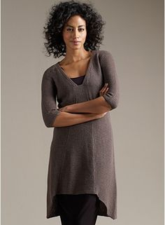 Eileen Fisher http://www.eileenfisher.com/EileenFisher/Woman/ShopByItem/Sweaters_and_Cardigans/Sweaters/PRD_F1WWR-W1809X/Tunic+with+Dipped+Hem+in+Washable+Wool+Crepe+Rib.jsp?bmLocale=en_US