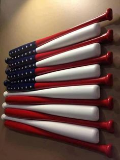 Patriotic baseball boy's room decor- I don't know that I'll ever have a baseball theme room, but that's pretty cool!