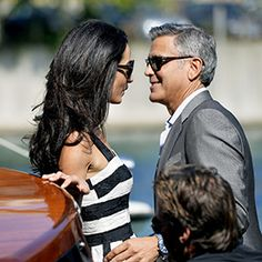 This Is Love! See the Gorgeous Photos of George Clooney and Amal Alamuddin Arriving in Venice for Their Wedding  #InStyle
