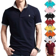 Cheap polo male, Buy Quality polo style directly from China polo long sleeve shirt Suppliers: Polo Shirt Striped 2015 New Fashion Summer Men Polo Shirts 100% Cotton Brands Short Sleeve Polos Camisas Male Sport Tops