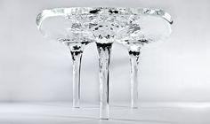 La table de glace Cometh by Zaha Hadid