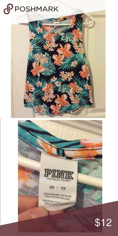 PINK Tank Top PINK by Victoria's Secret floral tank top. Good condition. I've only worn it a few times. PINK Victoria's Secret Tops Tank Tops